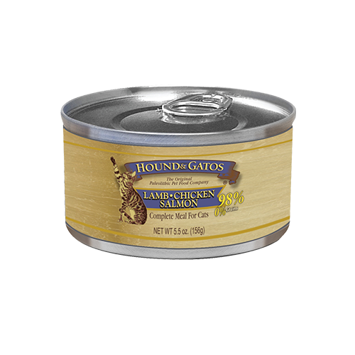 Hound & Gatos Grain Free Lamb, Chicken & Salmon Canned Cat Food