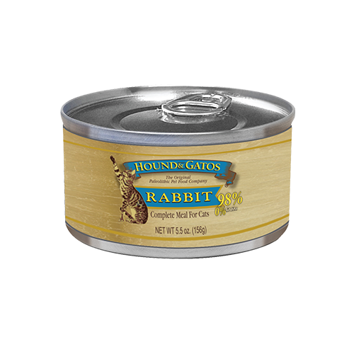 Hound & Gatos Grain Free American Rabbit Canned Cat Food