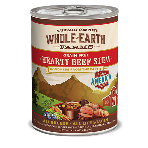 Whole Earth Farms Grain Free Hearty Beef Stew Formula Dog Cans