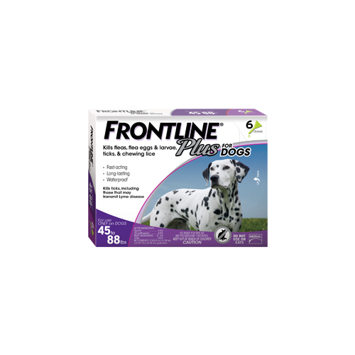 Frontline Plus for Dogs 45 - 88 lb.s