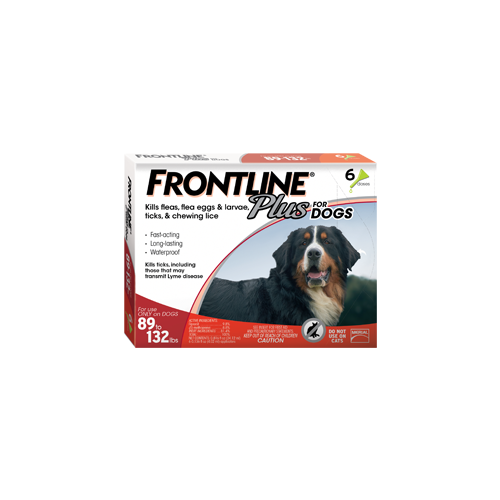 Frontline Plus for Dogs 89 - 132 lb.s