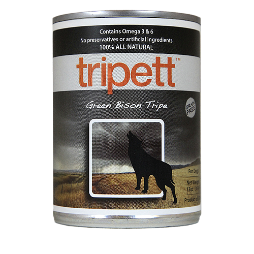 Tripett Green Bison Tripe Canned Dog Food
