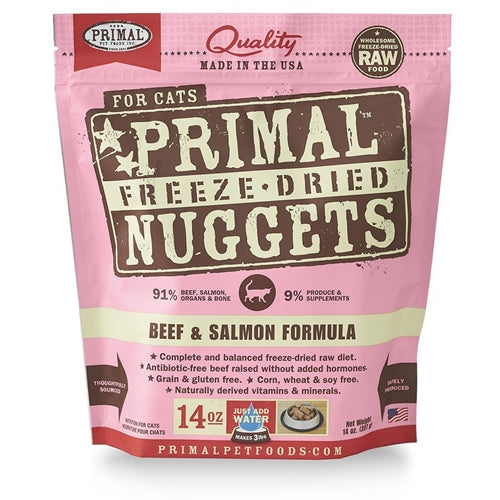 Primal Freeze Dried Beef+Salmon Formula for Cats