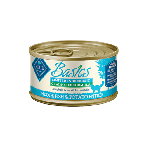 Blue Buffalo Basics Grain Free Fish & Potato Entree For Indoor Cats
