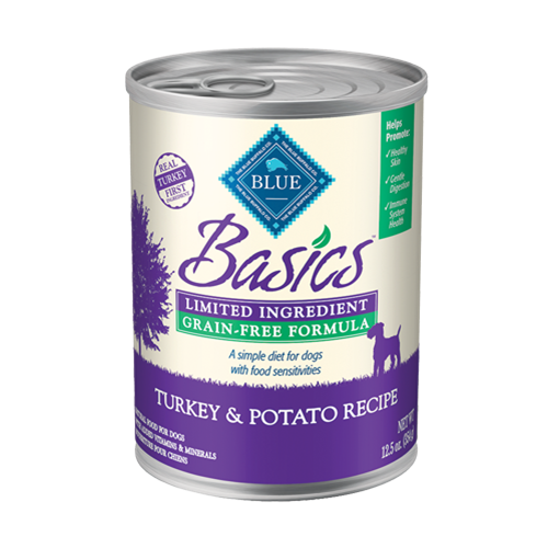 Blue Buffalo Basics Grain Free Turkey & Potato Canned Dog Food