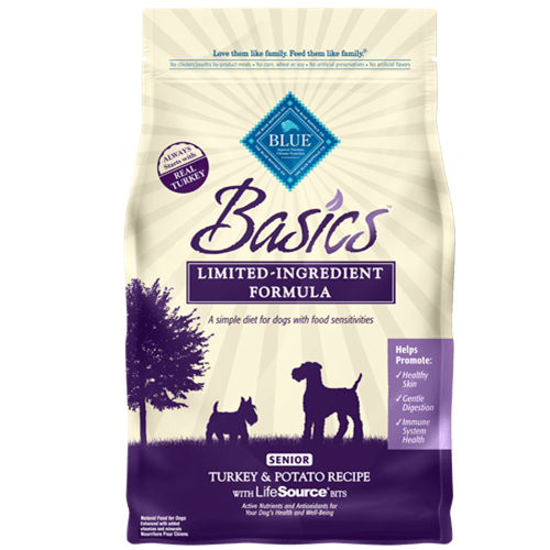 Blue Buffalo Basics Turkey & Potato Dry Senior Dog Food