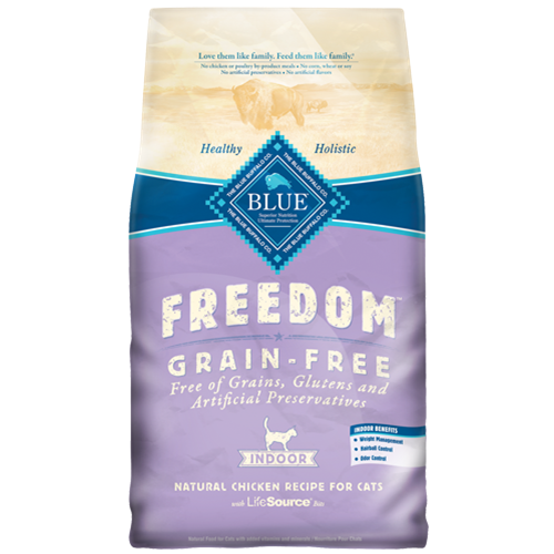 Blue Buffalo Freedom Grain Free Indoor Chicken Recipe For Adult Cats
