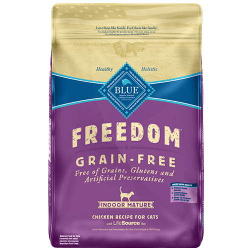 Blue Buffalo Freedom Grain Free Indoor Chicken Recipe For Mature Cats