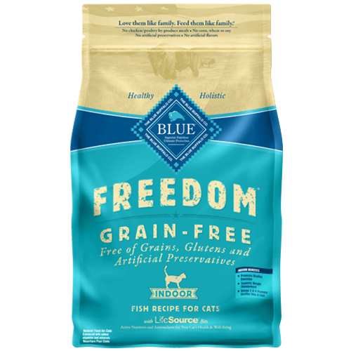 Blue Buffalo Freedom Grain Free Indoor Fish Recipe For Adult Cats