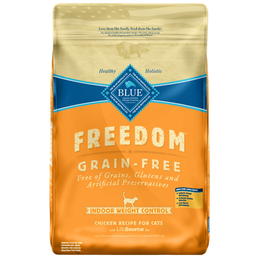 Blue Buffalo Freedom Grain Free Indoor Healthy Weight Chicken Recipe For Adult Cats