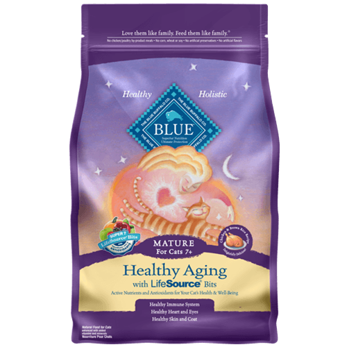 Blue Buffalo Healthy Aging Chicken and Brown Rice Dry Mature Cat Food