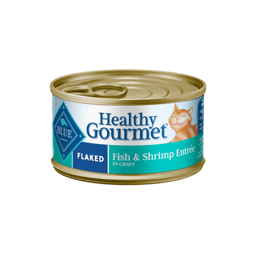 Blue Buffalo Healthy Gourmet Flaked Fish & Shrimp Entree Can Cat Food