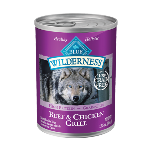 Blue Buffalo Wilderness Beef & Chicken Grill Can Dog Food