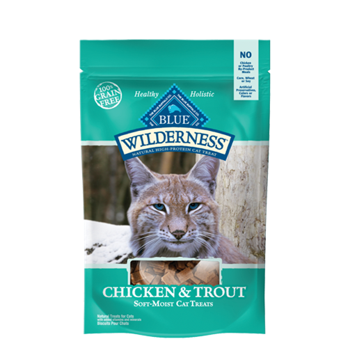 Blue Buffalo Wilderness Chicken and Trout Natural Soft and Moist Cat Treats