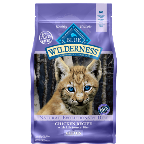 Blue Buffalo Wilderness Grain Free Chicken Dry Kitten Food