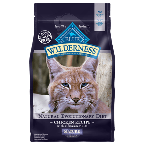 Blue Buffalo Wilderness Grain Free Chicken Dry Mature Cat Food