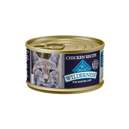 Blue Buffalo Wilderness Grain Free Chicken Can Mature Cat Food