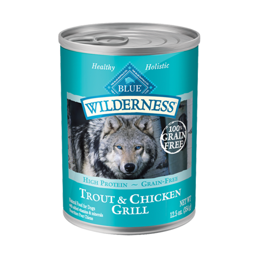 Blue Buffalo Wilderness Grain Free Trout & Chicken Can Dog Food