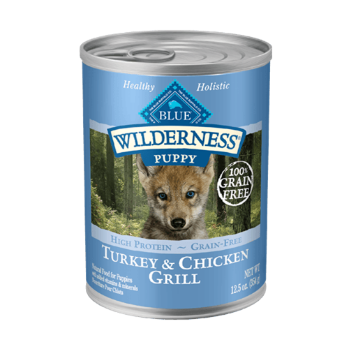 Blue Buffalo Wilderness Grain Free Turkey & Chicken Grill Can Puppy Food