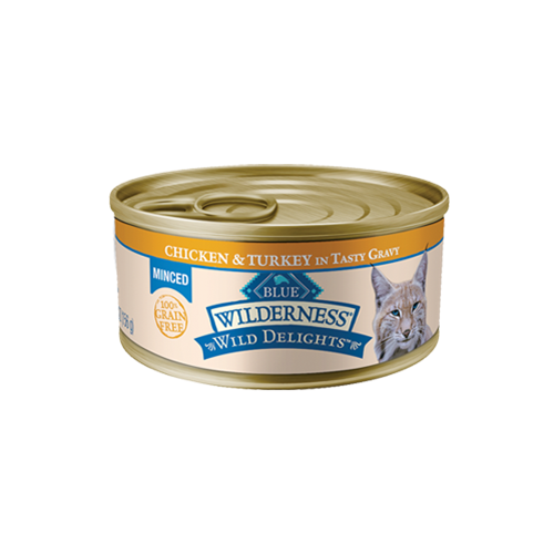 Blue Buffalo Wilderness Wild Delights Grain Free Chicken & Turkey Can Cat Food