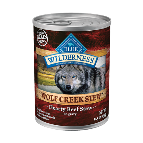 Blue Buffalo Wilderness Wolf Creek Stew Beef Can Dog Food