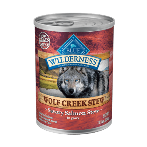 Blue Buffalo Wilderness Wolf Creek Stew Salmon Can Dog Food