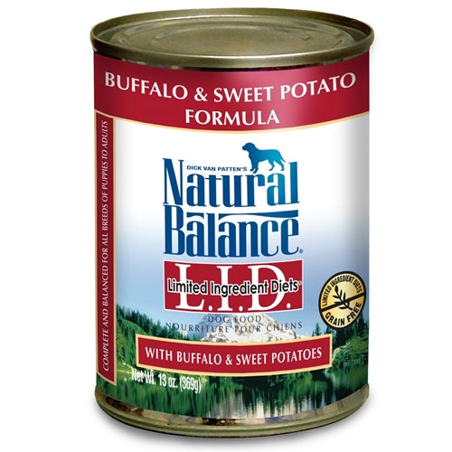 Natural Balance Grain Free Buffalo & Sweet Potato Can Dog Food