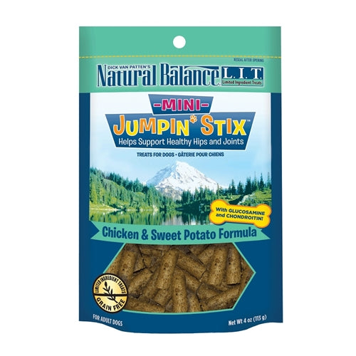 Natural Balance L.I.T. Mini Jumpin' Stix Chicken Formula with Glucosamine and Chondroitin Semi-Moist Dog Treats