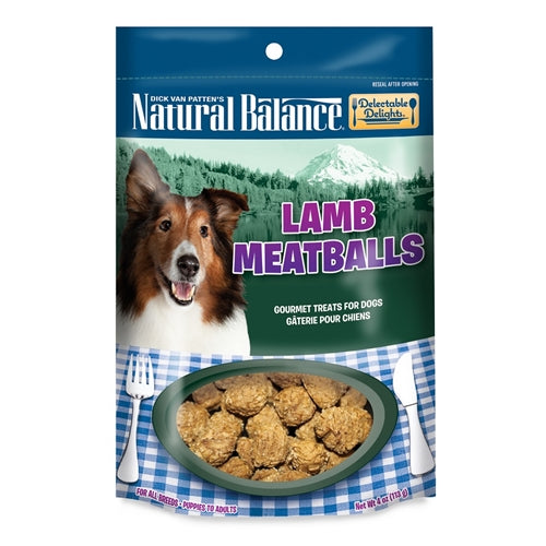 Natural Balance Delectable Delights Lamb Meatballs Dog Treats