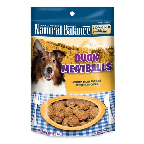 Natural Balance Delectable Delights Duck Meatballs Dog Treats