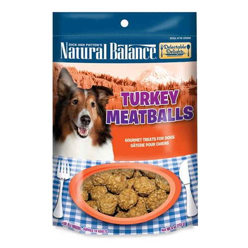 Natural Balance Delectable Delights Turkey Meatballs Dog Treats