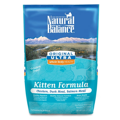 Natural Balance Original Ultra Whole Body Health Chicken, Duck Meal & Salmon Meal Dry Kitten Food
