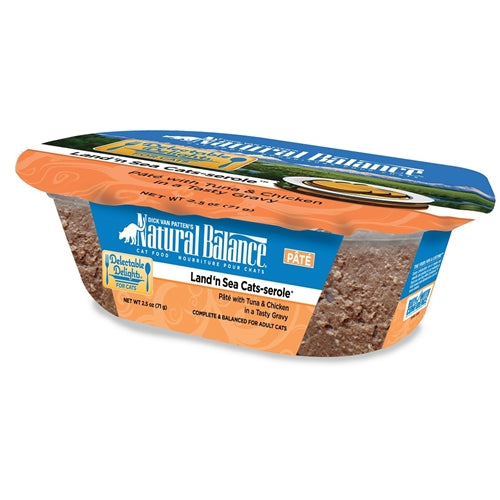 Natural Balance Delectable Delights Land 'n Sea Cats-serole Cat Pate Formula Tuna and Chicken