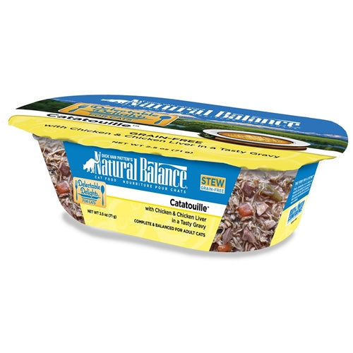 Natural Balance Delectable Delights Catatouille Cat Stew Formula Chicken and Chicken Liver