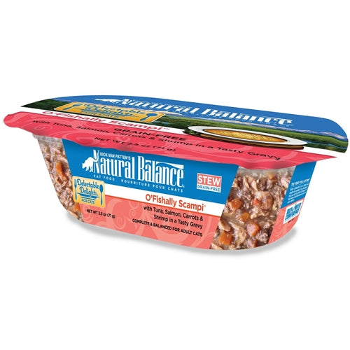 Natural Balance Delectable Delights O'Fishally Scampi Formula Tuna, Salmon, Carrots, and Shrimp