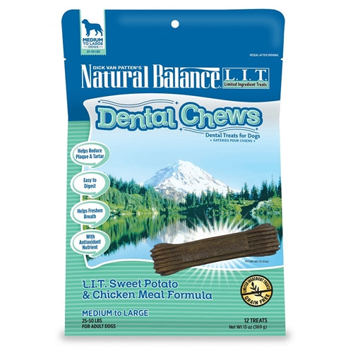 Natural Balance L.I.T. Sweet Potato & Chicken Meal Small Breed Dog Dental Chews
