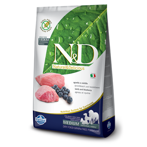 Farmina N&D Grain Free Lamb and Blueberry Adult Dry Dog Food