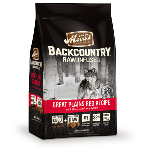 Merrick Grain Free Backcountry Raw Infused Great Plains Red Meat Recipe Dog Food