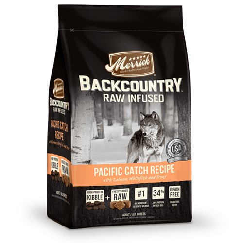 Merrick Grain Free Backcountry Raw Infused Pacific Catch Recipe Dog Food