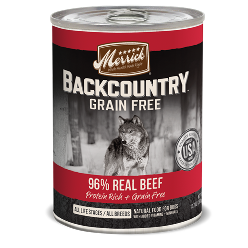 Merrick Grain Free Backcountry 96% Real Beef Recipe Canned Dog Food