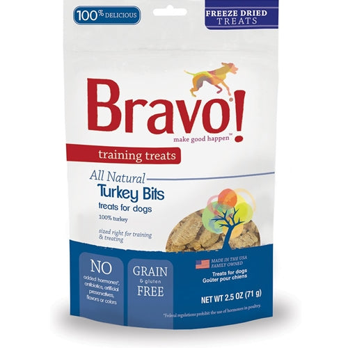 BRAVO! Training Treats Freeze Dried Turkey Dog Treats