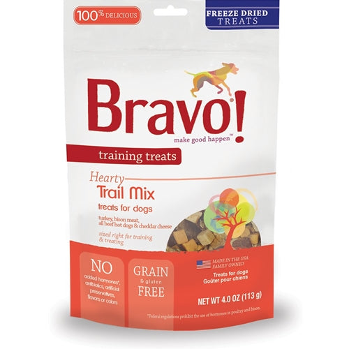 BRAVO! Training Treats Freeze Dried Trail Mix Bits Dog Treats