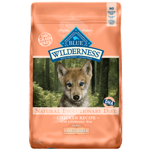 Blue Buffalo Wilderness Grain Free Chicken Dry Large Breed Puppy Dog Food