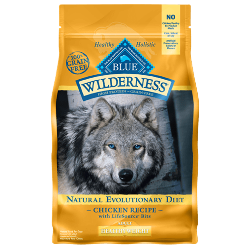 Blue Buffalo Wilderness Grain Free Healthy Weight Chicken Dry Dog Food