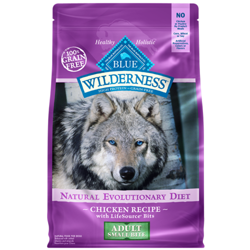Blue Buffalo Wilderness Grain Free Small Bite Chicken Dry Dog Food