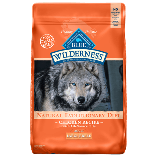 Blue Buffalo Wilderness Grain Free Chicken Large Breed Adult Dry Dog Food