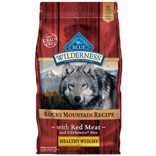 Blue Buffalo Wilderness Grain Free Rocky Mountain Red Meat Healthy Weight Adult Dry Dog Food