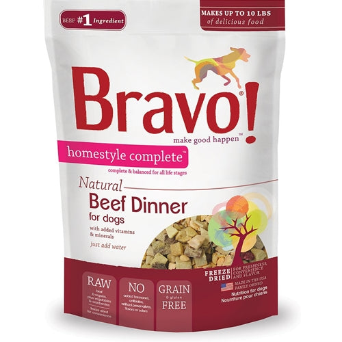 BRAVO! Homestyle Complete Natural Beef Dinner for Dogs