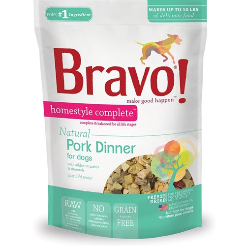 BRAVO! Homestyle Complete Natural Pork Dinner for Dogs