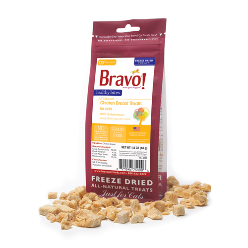 BRAVO! Healthy Bites Chicken Breast Treats for Cats